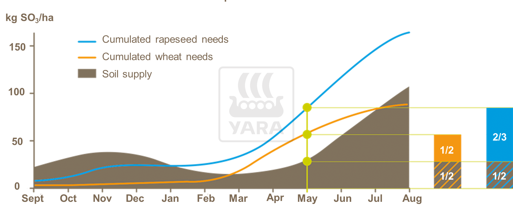 Sulphur requirements for oilseed rape and wheat