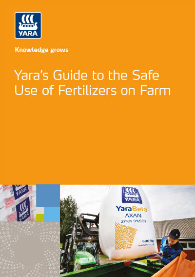 Yara's guide to the safe use of fertilizers on farm brochure