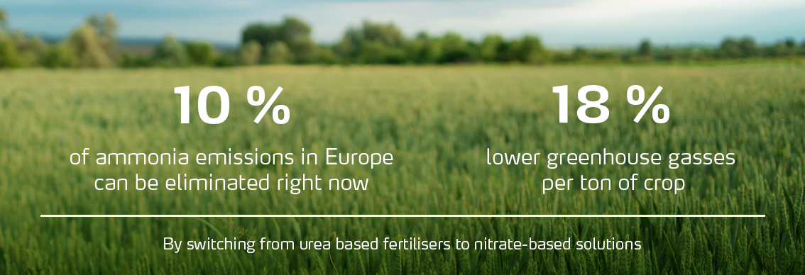 Nitrate-based fertilizers compared to urea
