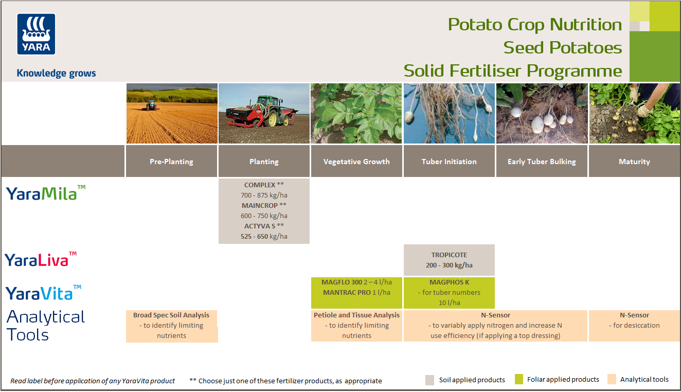 Seed Potato Crop Nutrition Programme