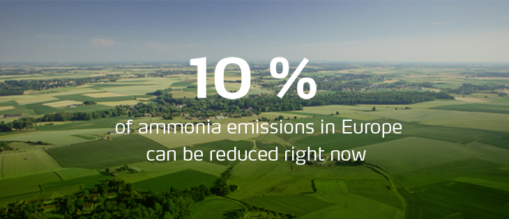 10% of ammonia emissions in Europe can be reduced right now